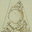 Design for the monument to Issac Newton at Westminster Abbey, London, William Kent