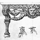 Design for a pier table for Houghton Hall, William Kent