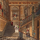 A view of the Great Staircase, Kensington Palace, after Charles Wild