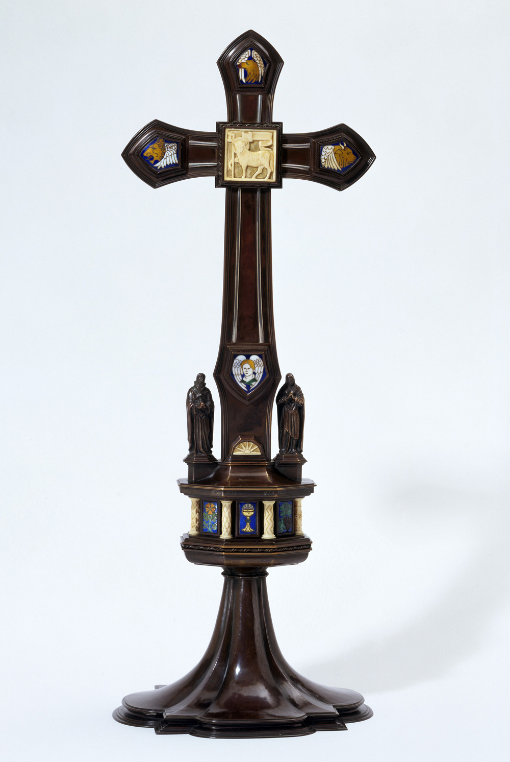 Christian symbolism the natural world victoria and albert museum altar cross with an ivory plaque showing the lamb of god biocorpaavc