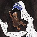 M.F. Husain, 'Mother and Child: A Tribute to Mother Theresa, the Great Humanist of our Time'