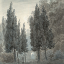'In the Gardens of the Villa Pamfili, Rome', by John Robert Cozens