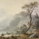 'Landscape with Mountains by a Lake', Paul Sandby
