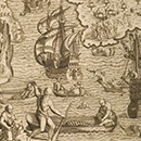 Pearl fishing in the Caribbean from Les Grands Voyages, published by Theodor de Bry