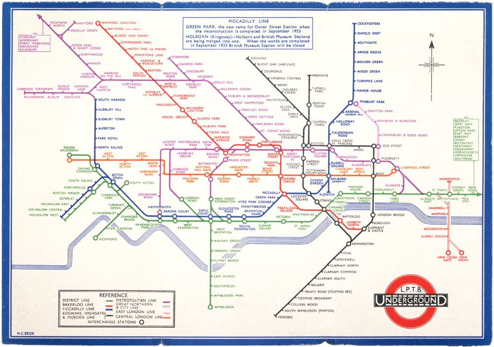 london underground map henry beck