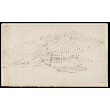 Drawing - View of Painswick House and Gardens, Gloucestershire