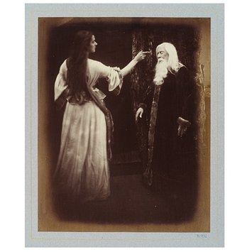 Photograph - Vivien and Merlin; Illustrations to Tennyson's Idylls of the King