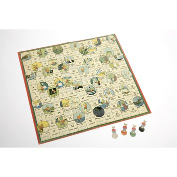 Board game - The Day's Doings of a Little Mouse, An Amusing Game for Learning French; La Journee d'un Souriceau