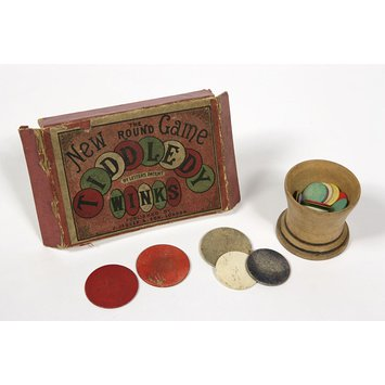 Table game - the new round game of tiddledy winks; by letters patent