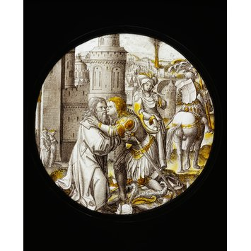 Roundel - Saint George taking leave of the King of Selene