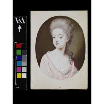 Portrait miniature - Mrs Pru Phillips