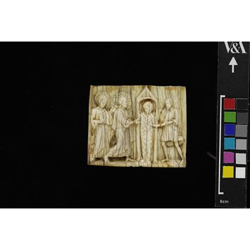 Panel - Three Saints; Christ and the Woman of Samaria; The Charge to the Apostles; The Rich Young Man; The Raising of Lazarus; Christ Healing the Blind Man; Scenes from the Life of Christ