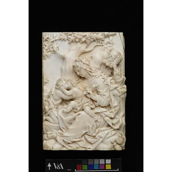 Relief - The Holy Family (ivory relief); The Holy Family with the young St John the Baptist