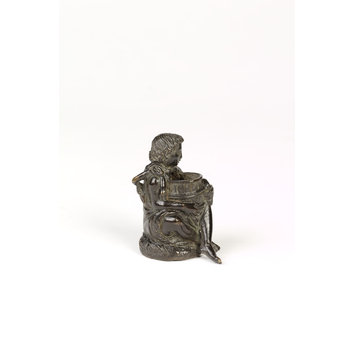 Statuette - Seated boy holding a tub