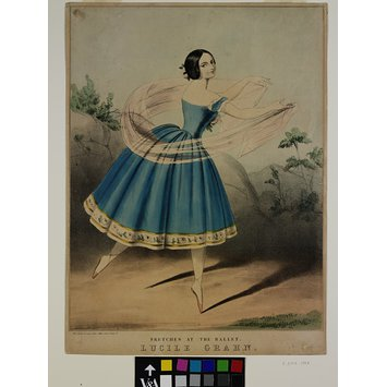 Print - Sketches at the Ballet. Lucile Grahn.