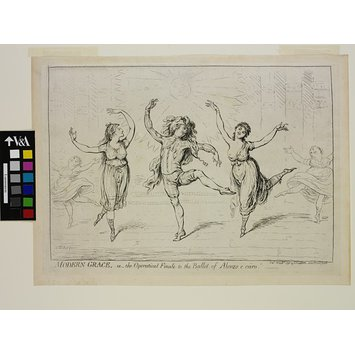 Print - Modern Grace, or the Operatical Finale to the ballet of Alonzo e Caro