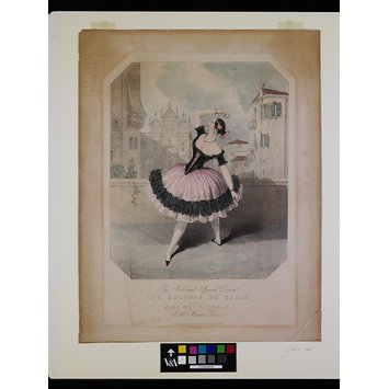 Print - 'The Celebrated Spanish Dance. / LAS BOLERAS DE CADIZ. / Danced by / MADE GUY STEPHAN. / At Her Majesty's Theatre.