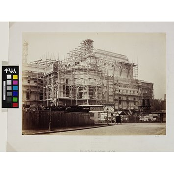 Photograph - View of the East Side; Construction of the Paris Opra