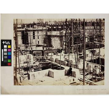 Photograph - General View Taken from the Small Staircase; Construction of the Paris Opéra