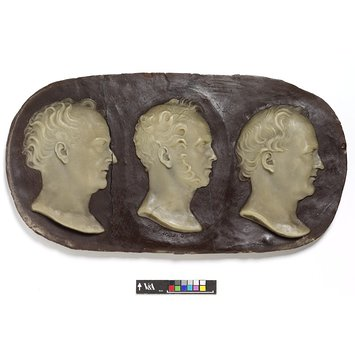 Relief - Chevalier Bunsen, Lord Palmerstone and Abbott Lawrence