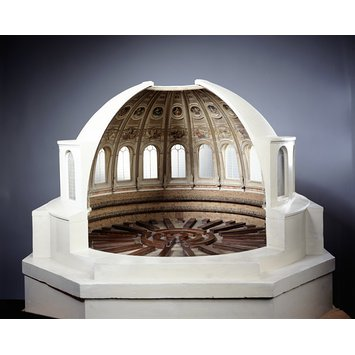 Architectural model - Architectural model for the proposed Reading Room of the British Museum