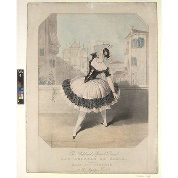 Print - The Celebrated Spanish Dance Las Boleras de Cadiz danced by Marie Guy Stephan