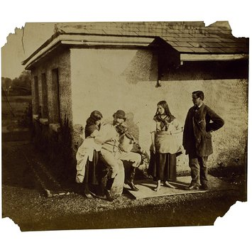 Photograph - Florence Elizabeth Maude, Cornwallis Hawarden, Clementina Maude and unidentified man, Togge House, Dundrum; Photographic Study