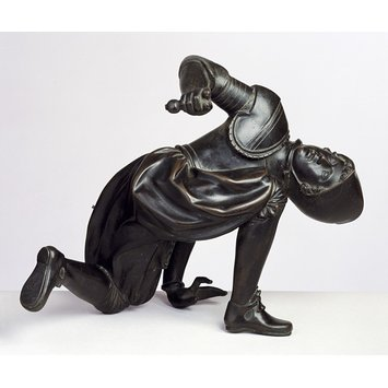 Figure - Crouching warrior