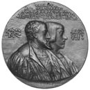 Charles V, Holy Roman Emperor, and Ferdinand I his brother (Medal)