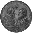 Wilhelm V, Duke of Bavaria, and his wife Renée (Medal)