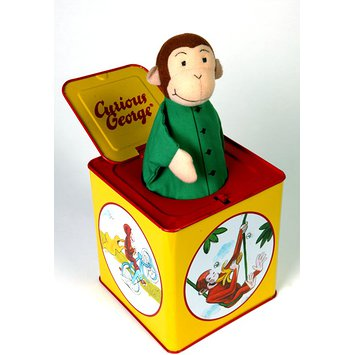 Jack-in-the-box - Curious George