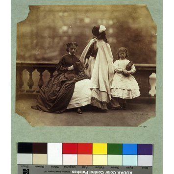 Photograph - Isabella Grace, Clementina and Elphinstone Agnes Maude on terrace, 5 Princes Gardens; Photographic Study