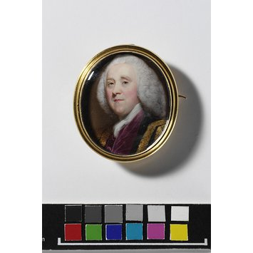 Enamel miniature - Portrait of an unknown man