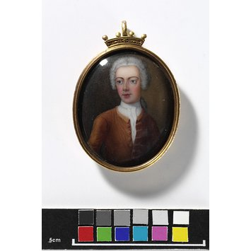 Enamel miniature - Portrait of Nevill, 6th Lord Lovelace of Hurley