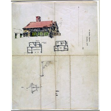 Drawing - Design for a coach house