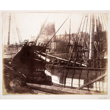 Photograph - Sailing vessels in harbour