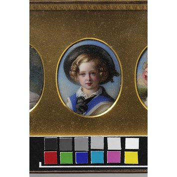 Enamel miniature - Portrait of Albert Edward, Prince of Wales, son of Queen Victoria, after Winterhalter