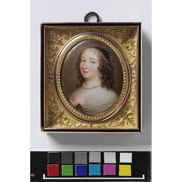 Enamel miniature - Portrait of Henrietta Maria (1607-1669), Queen of England