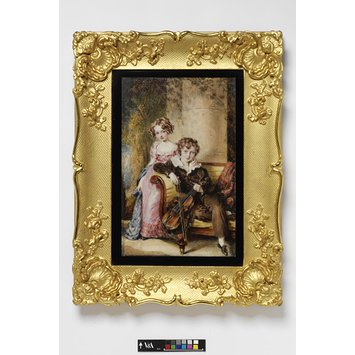 Portrait miniature - Portrait of Miss Mary Wedderburn Stirling and Master Patrick Stirling