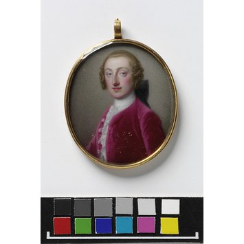 Enamel miniature - Portrait of William Pitt (1708-1778), 1st Earl of Chatham
