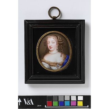Enamel miniature - Portrait of Frances Teresa Stuart, Duchess of Richmond