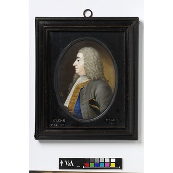 Portrait miniature - Portrait of Bernard Lens, father of the artist