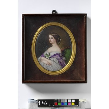 Enamel miniature - Portrait of Empress Eugenie