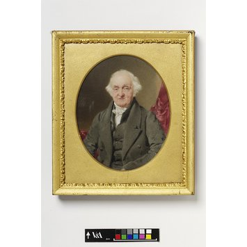 Portrait miniature - Portrait of an unknown elderly man