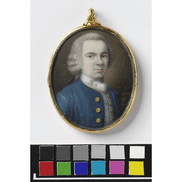 Portrait miniature - Self-portrait of C. Dixon