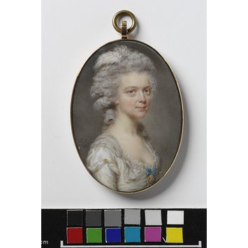 Portrait miniature - Portrait of Charlotte Leighton