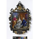 Portrait of Mr John Knight MP and family (Enamel miniature)