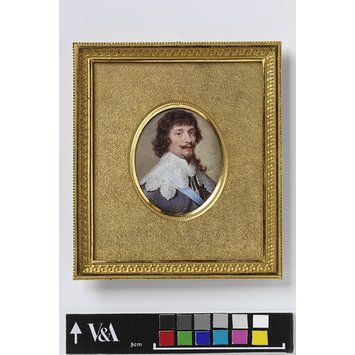 Enamel miniature - Portrait of Frederick V (1596-1632), Elector Palatine, King of Bohemia