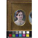 Portrait of Princess Helena, daughter of Queen Victoria, after Winterhalter (Enamel miniature)