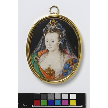 Portrait miniature - An Unknown Woman in masque costume